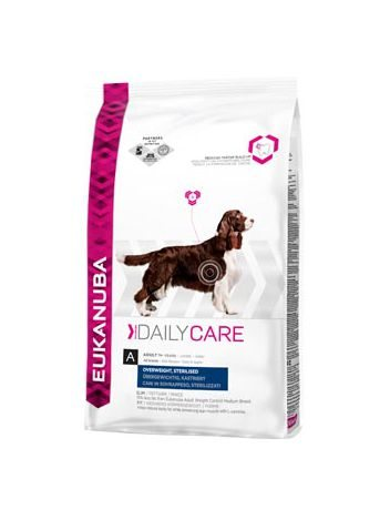 EUKANUBA DAILY CARE OVERWEIGHT STERILIZED - 25KG (12,5KGx2)