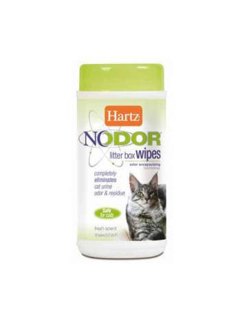 HARTZ NODOR LITTER BOX WIPES