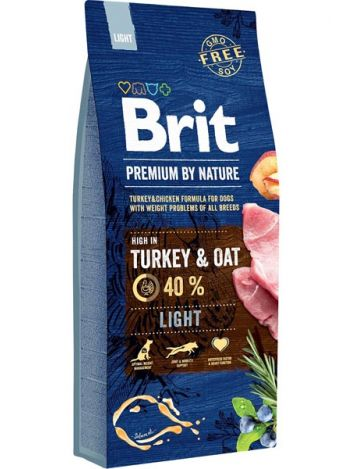 BRIT PREMIUM BY NATURE LIGHT - 15KG