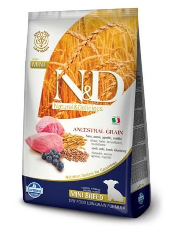 FARMINA N&D LOW GRAIN LAMB & BLUBERRY PUPPY MINI - 14KG (7KGx2)