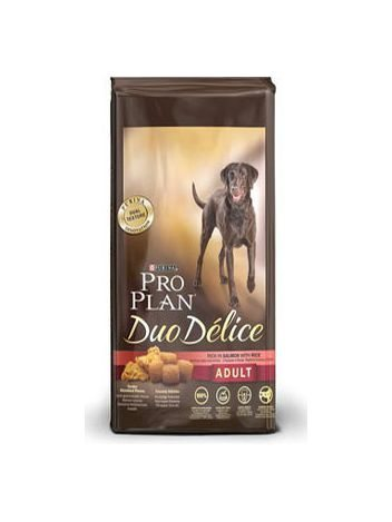 PURINA PRO PLAN DUO DELICE ADULT RICH IN SALMON WITH RICE - 20KG (10KGx2)