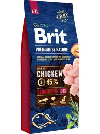 BRIT PREMIUM BY NATURE L+XL SENIOR - 15KG