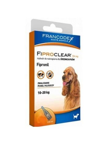 FIPROCLEAR DLA PSA DO (10-20KG) 4 x 1,34ML