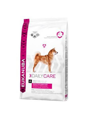 EUKANUBA DAILY CARE SENSITIVE DIGESTION - 25KG (12,5KGx2) + OBROŻA OWADOBÓJCZA!