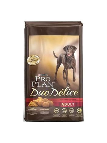 PURINA PRO PLAN DUO DELICE ADULT RICH IN BEEF WITH RICE - 20KG (10KGx2)