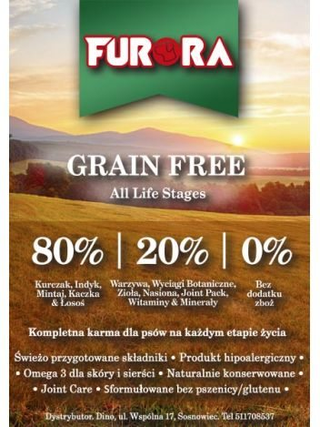 FURORA GRAIN FREE ALL LIFE STAGES - 24KG (12KGx2)