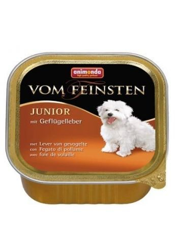 ANIMONDA VOM FEINSTEN JUNIOR WĄTRÓBKA DROBIOWA - 8x150G