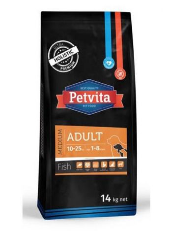 PETVITA ADULT MEDIUM FISH - 14KG