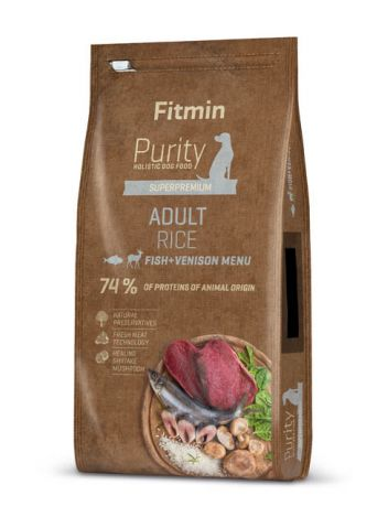 FITMIN DOG PURITY ADULT FISH & VENISION - 24KG (12KGx2)