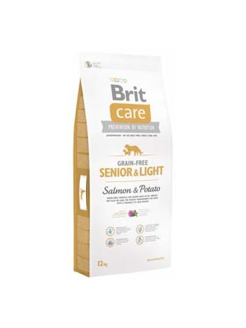 BRIT CARE GRAIN-FREE SENIOR & LIGHT SALMON & POTATO - 24KG (12KGx2)