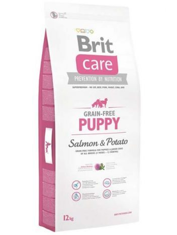 BRIT CARE GRAIN FREE PUPPY SALMON & POTATO - 12KG