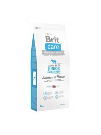 BRIT CARE GRAIN FREE JUNIOR LARGE SALMON & POTATO - 24KG (12KGx2)