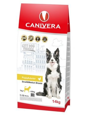 CANIVERA PUPPY & JUNIOR SMALL & MEDIUM - 14KG + 3KG!