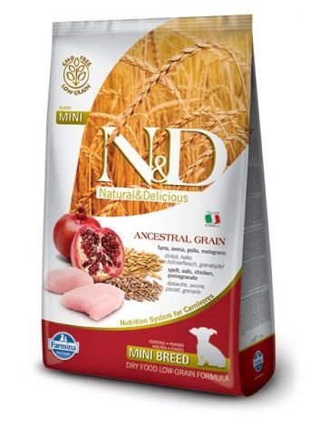 FARMINA N&D LOW GRAIN CHICKEN & POMEGRANATE PUPPY MINI - 14KG (7KGx2)