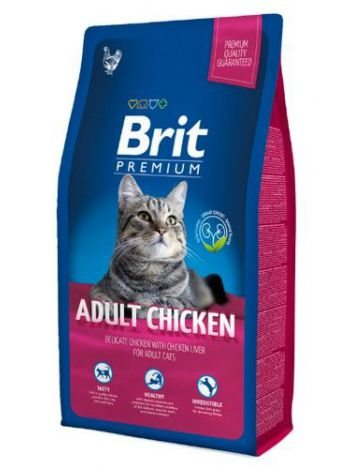 BRIT PREMIUM CAT ADULT CHICKEN - 8KG