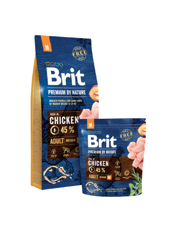 BRIT PREMIUM BY NATURE M ADULT - 15KG