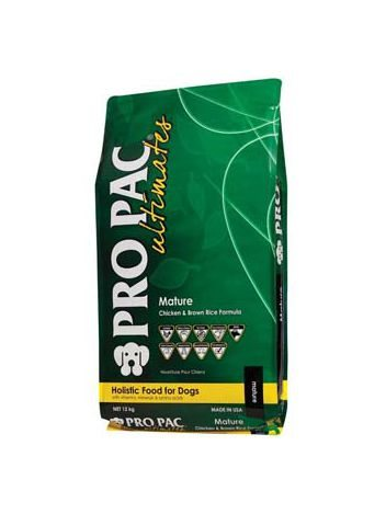 PRO PAC ULTIMATES MATURE CHICKEN & BROWN RICE - 24KG (12KGx2)