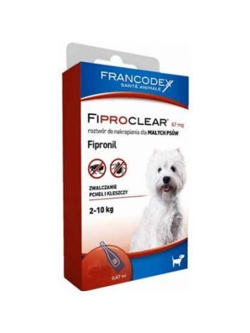 FIPROCLEAR DLA PSA DO 10KG 4 x 0,67ML