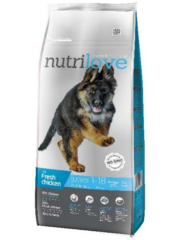 NUTRILOVE PREMIUM JUNIOR LARGE FRESH CHICKEN - 30KG (12KG+3KGx2)