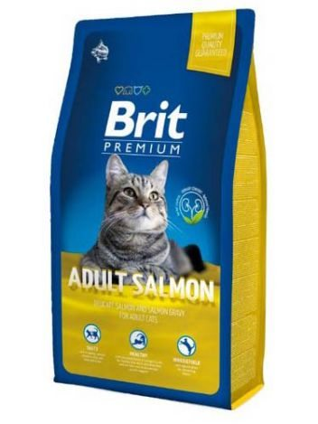 BRIT PREMIUM CAT ADULT SALMON - 8KG
