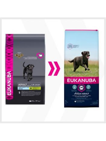 EUKANUBA ACTIVE ADULT LARGE - 15KG + 3KG!