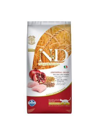 FARMINA N&D LOW GRAIN CHICKEN & POMEGRANATE ADULT CAT NEUTERED - 300G