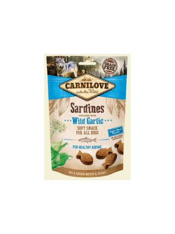 CARNILOVE SEMI MOIST SNACK SARDINES ENRICHED GARLIC - 200G