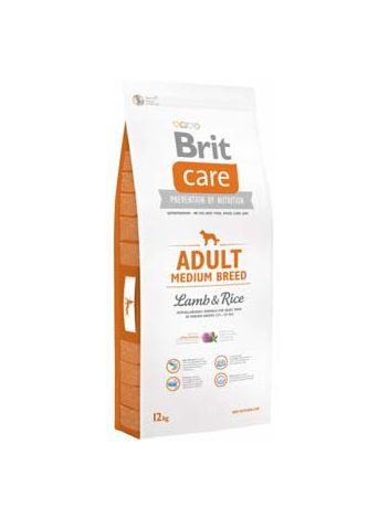 BRIT CARE ADULT MEDIUM BREED LAMB & RICE - 24KG (12KGx2)