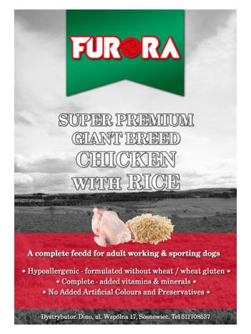 FURORA ADULT GIANT BREED CHICKEN WITH RICE - 30KG (15KGx2)