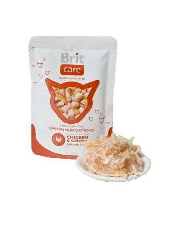 BRIT CARE CAT POUCH CHICKEN & CHEESE - 80G