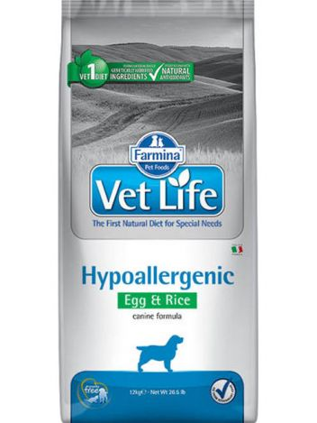 FARMINA VET LIFE HYPOALLERGENIC DOG EGG & RICE - 12KG