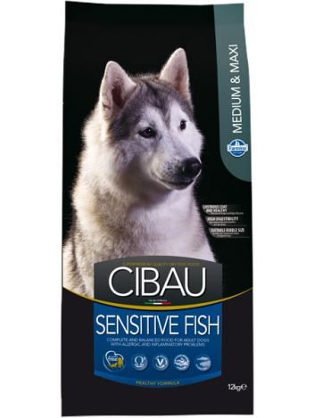 CIBAU SENSITIVE FISH MEDIUM/MAXI - 12KG + 2KG