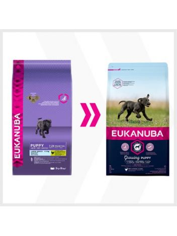EUKANUBA GROWING PUPPY LARGE - 15KG + 3KG!