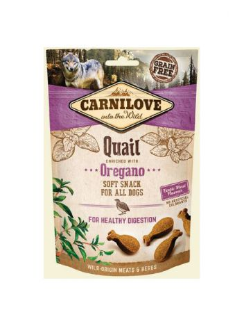 CARNILOVE SEMI MOIST SNACK QUAIL ENRICHED OREGANO - 200G