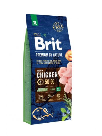 BRIT PREMIUM BY NATURE JUNIOR XL - 15KG