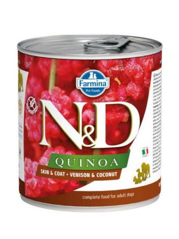 FARMINA N&D DOG QUINOA VENISON & COCONUT - 285G + 285G GRATIS!