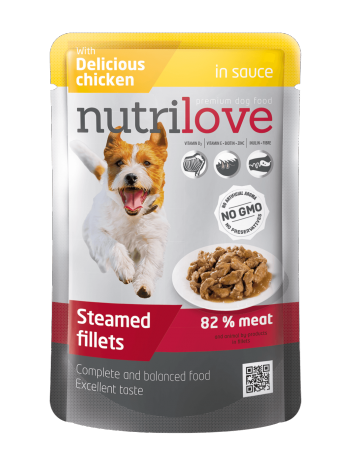 NUTRILOVE PREMIUM CHUNKS IN SAUCE WITH CHICKEN - 85G