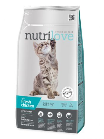 NUTRILOVE KITTEN FRESH CHICKEN - 8KG
