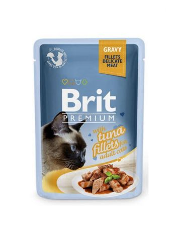 BRIT CAT POUCHES GRAVY FILLETS WITH TUNA - 85G