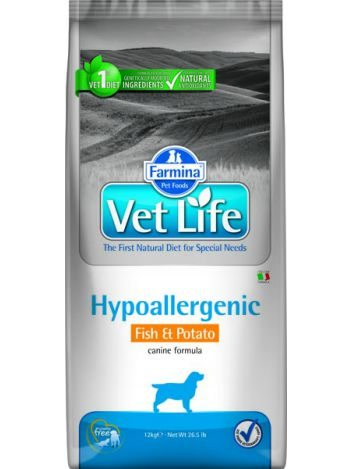 FARMINA VET LIFE HYPOALLERGENIC DOG FISH & POTATO - 12KG