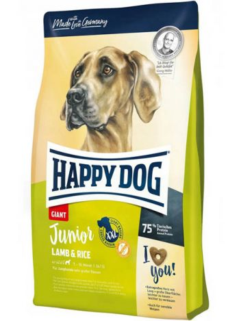 HAPPY DOG GIANT JUNIOR LAMB&RICE - 30KG (15KGx2)