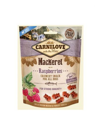 CARNILOVE CRUNCHY SNACK MACKEREL RASPBERRIES FRESH MEAT - 200G