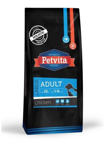 PETVITA ADULT LARGE CHICKEN - 28KG (14KGx2)