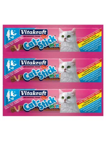 VITAKRAFT CAT-STICK MINI Z DORSZEM I ŁOSOSIEM 3 + 1 GRATIS