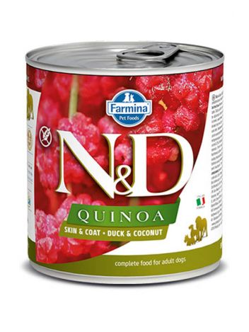 FARMINA N&D DOG QUINOA DUCK & COCONUT - 285G + 285G GRATIS!
