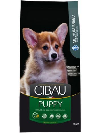 CIBAU PUPPY MEDIUM - 28KG (12KG+2KGx2) + DENTAL STICK 160G!