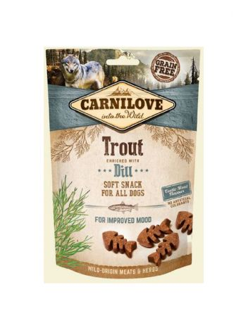 CARNILOVE SEMI MOIST SNACK TROUT ENRICHED DILL - 200G
