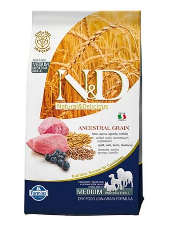 FARMINA N&D LOW GRAIN LAMB & BLUEBERRY ADULT MAXI - 24KG (12KGx2)