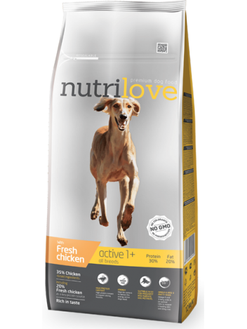 NUTRILOVE PREMIUM ACTIVE FRESH CHICKEN - 3KG
