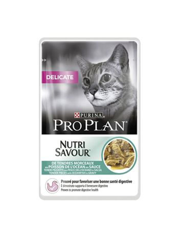 PURINA PRO PLAN NUTRI SAVOUR DELICATE OCEAN FISH - 85G x 12